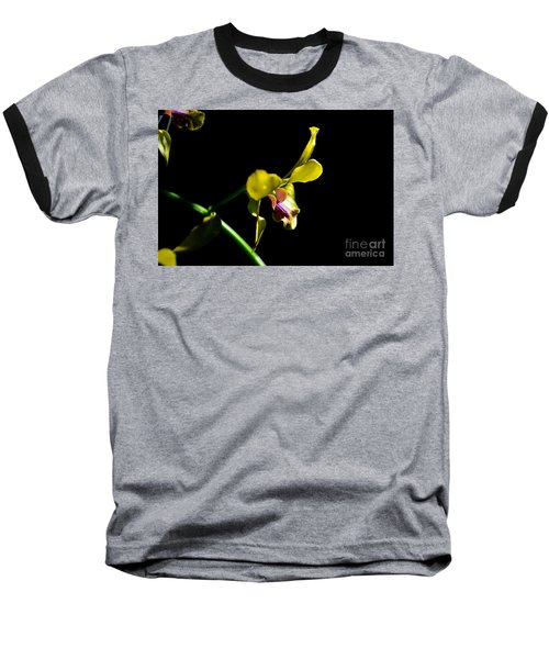 Yellow Orchid Baseball T-Shirt