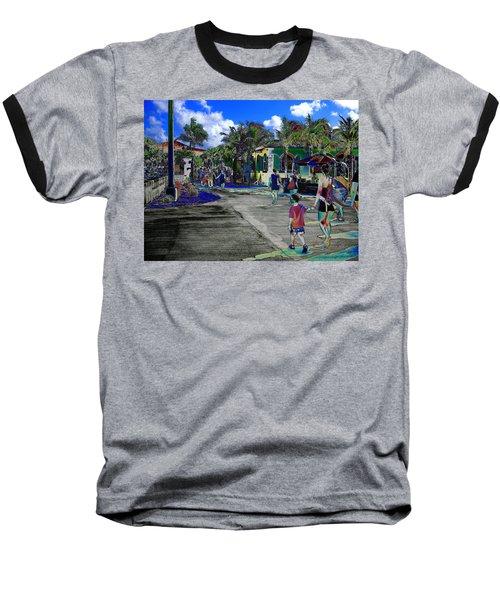St Croix Stencil  Baseball T-Shirt