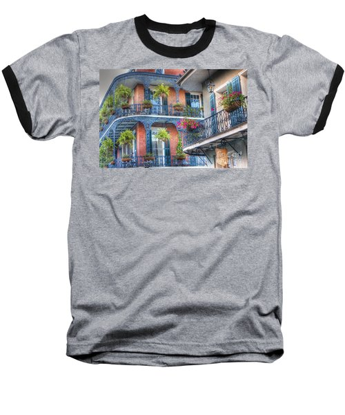 0255 Balconies - New Orleans Baseball T-Shirt