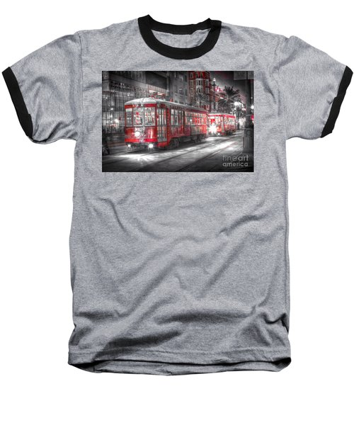 0271 Canal Street Trolley - New Orleans Baseball T-Shirt