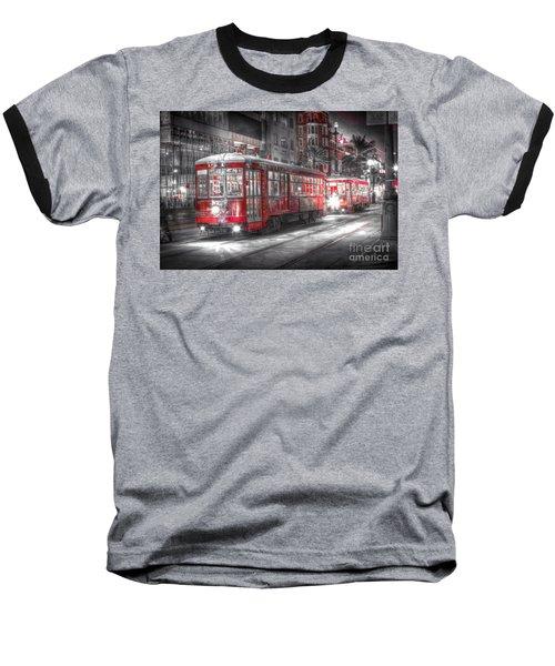 0271 New Orleans Street Car Baseball T-Shirt