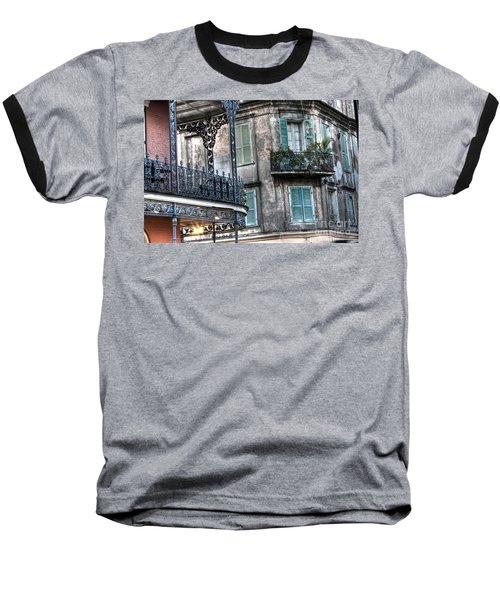 0275 New Orleans Balconies Baseball T-Shirt