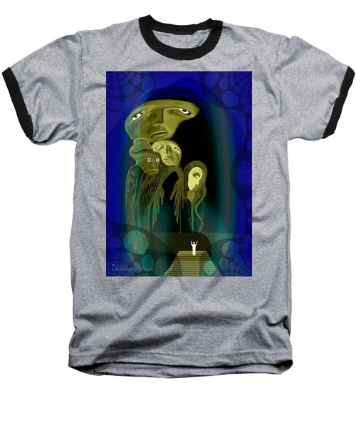 028 -  The  Arrival Of The Gods  Baseball T-Shirt