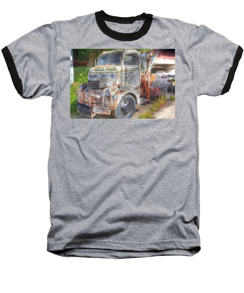 0281 Old Tow Truck Baseball T-Shirt
