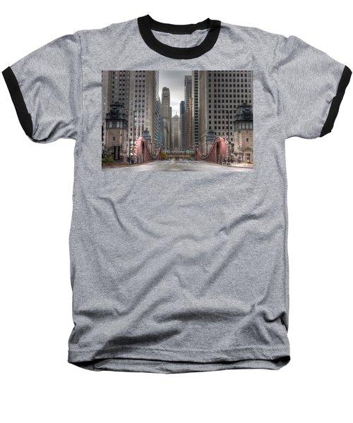 0295 Lasalle Street Chicago Baseball T-Shirt