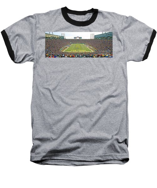 0349 Lambeau Field Panoramic Baseball T-Shirt