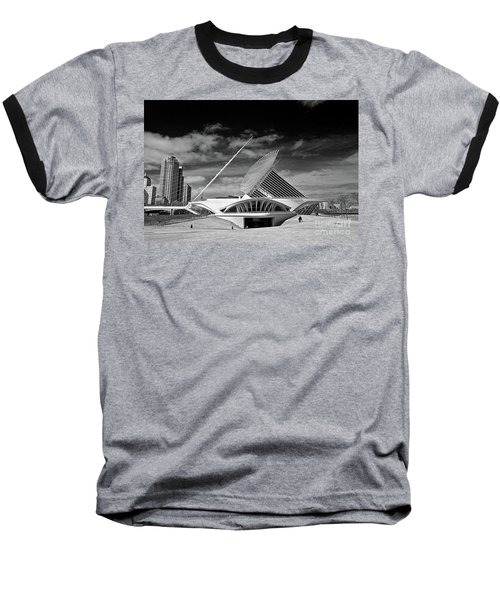 0352 Milwaukee Art Museum Infrared Baseball T-Shirt