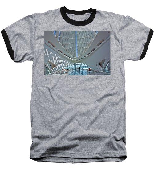 0354 Milwaukee Art Museum Baseball T-Shirt