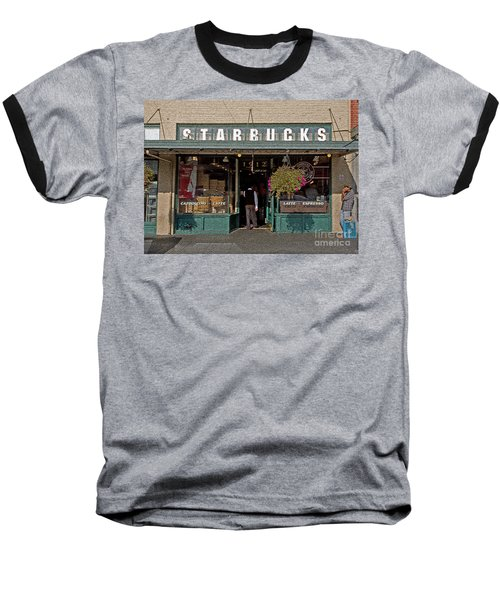 0370 First Starbucks Baseball T-Shirt