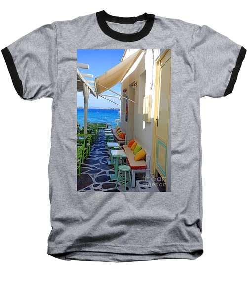 0560 Mykonos Greece Baseball T-Shirt