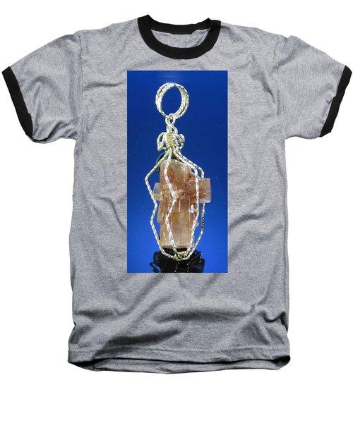 0658 Caged Crystal Baseball T-Shirt