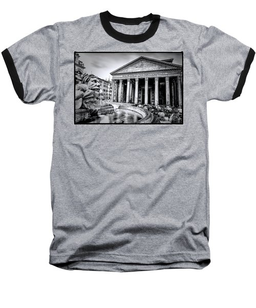 0786 The Pantheon Black And White Baseball T-Shirt
