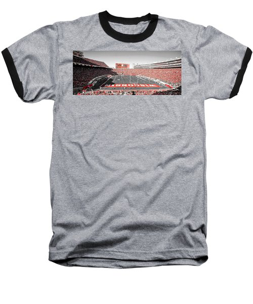 0813 Camp Randall Stadium Panorama Baseball T-Shirt