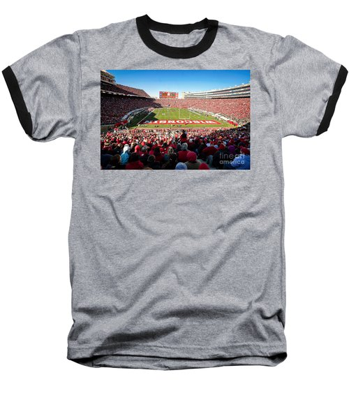 0814 Camp Randall Stadium Baseball T-Shirt