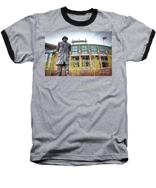 0853 Lombardi Statue Baseball T-Shirt