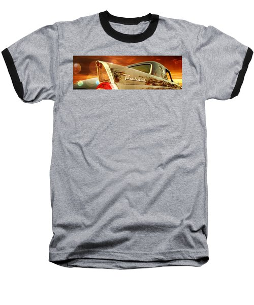 1957 Ford Thunderbird  Baseball T-Shirt by Aaron Berg