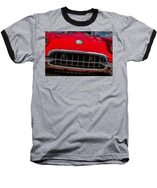 1958 Chevrolet Corvette Grille Baseball T-Shirt