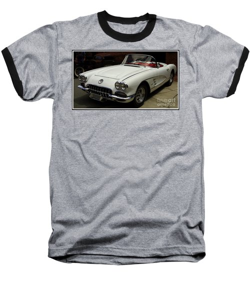 Baseball T-Shirt featuring the photograph 1958 Chevrolet Corvette by James C Thomas