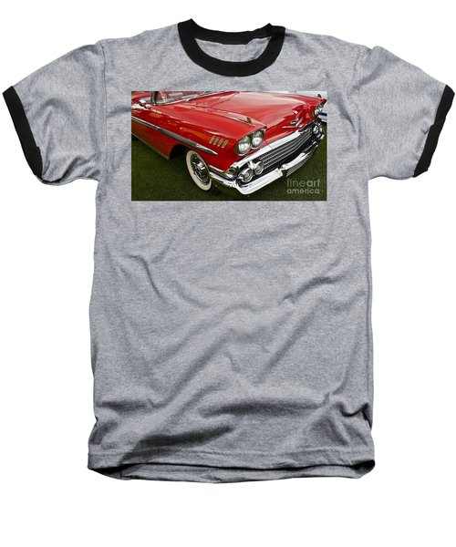 1958 Chevy Impala Baseball T-Shirt