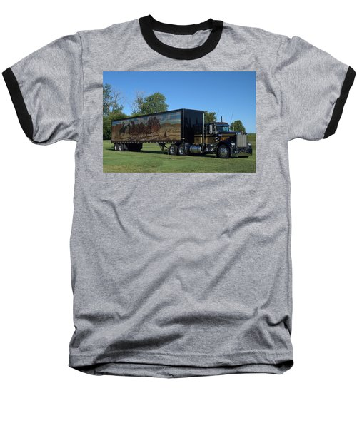 Smokey And The Bandit Tribute 1973 Kenworth W900 Black And Gold Semi Truck Baseball T-Shirt