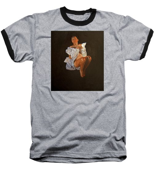 Baseball T-Shirt featuring the painting 1 30 Am by Thu Nguyen