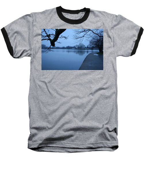 Baseball T-Shirt featuring the photograph A Blue Morning For Jefferson by Cora Wandel