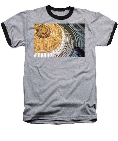 Baseball T-Shirt featuring the photograph A Capitol Rotunda by Cora Wandel