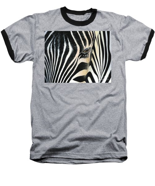 Baseball T-Shirt featuring the painting A Moment's Reflection by Mike Brown