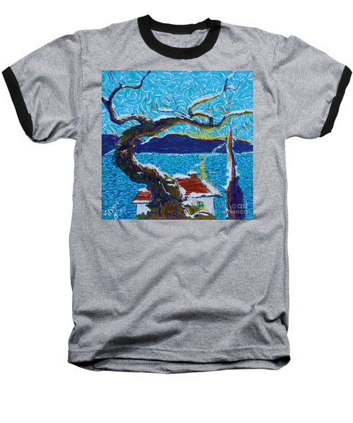 A River's Snow Baseball T-Shirt