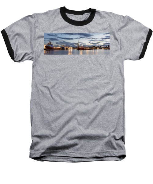 Aberdeen Harbour At Dusk Baseball T-Shirt