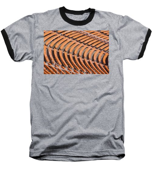 Abstract Pattern - Rows Of The Stadium's Seats Baseball T-Shirt