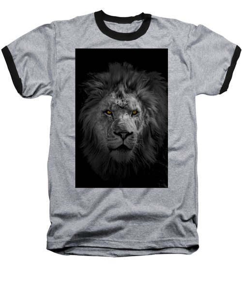 African Lion Baseball T-Shirt