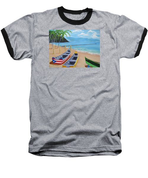 Aguadilla Crashboat Beach Baseball T-Shirt