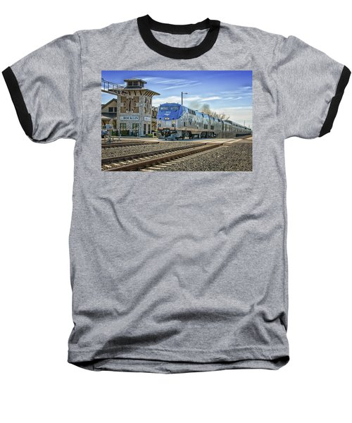 Baseball T-Shirt featuring the photograph Amtrak 112 by Jim Thompson