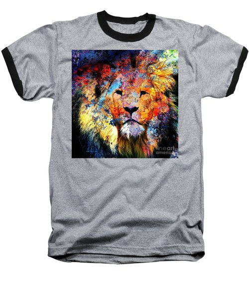 Ancient Lion King Baseball T-Shirt by Annie Zeno