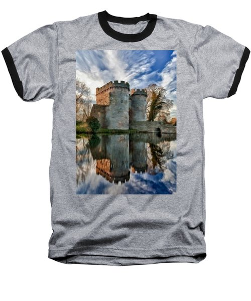 Ancient Whittington Castle In Shropshire England Baseball T-Shirt