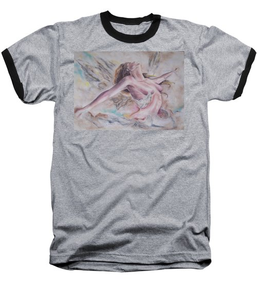 Baseball T-Shirt featuring the pastel Angel Burst by Peter Suhocke