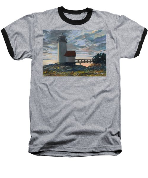 Annisquam Light Baseball T-Shirt by Eileen Patten Oliver