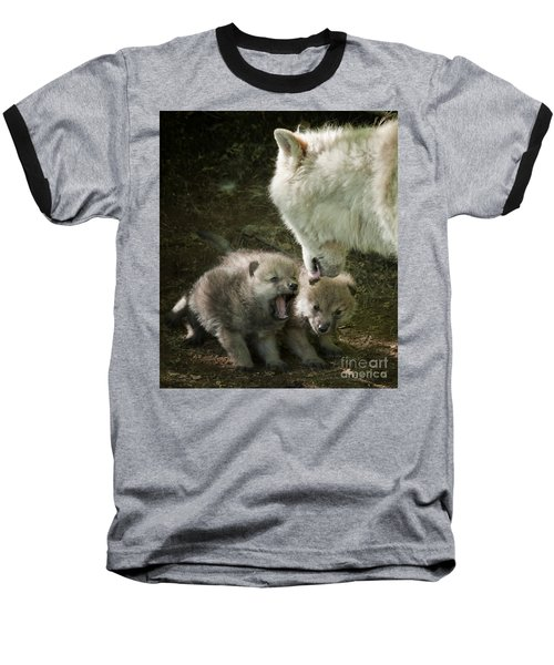 Arctic Wolf Pups Baseball T-Shirt