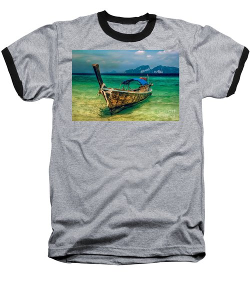 Asian Longboat Baseball T-Shirt by Adrian Evans