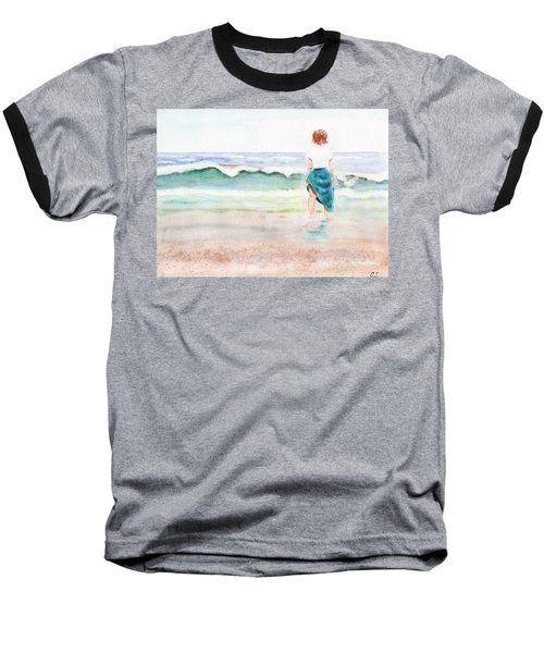 At The Beach Baseball T-Shirt by C Sitton