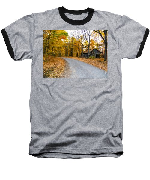 Autumn And The Old House Baseball T-Shirt