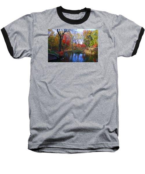 Autumn By The Creek Baseball T-Shirt