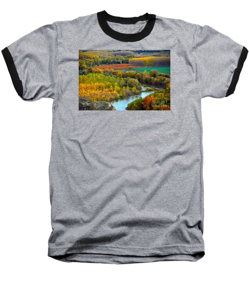 Autumn Colors On The Ebro River Baseball T-Shirt