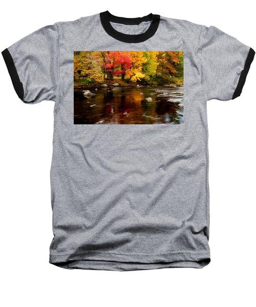 Autumn Colors Reflected Baseball T-Shirt