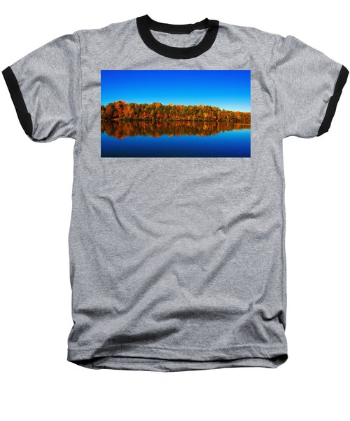 Autumn Reflections Baseball T-Shirt by Andy Lawless