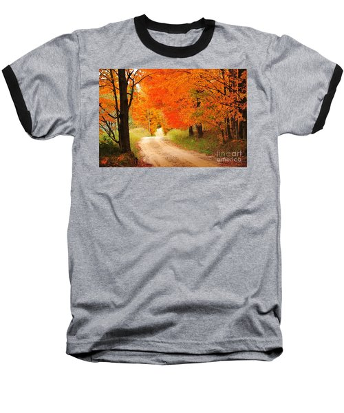 Baseball T-Shirt featuring the photograph Autumn Trail by Terri Gostola