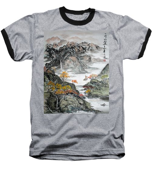 Baseball T-Shirt featuring the painting Autumn  by Yufeng Wang