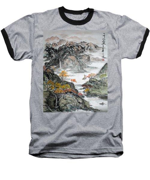 Autumn  Baseball T-Shirt by Yufeng Wang
