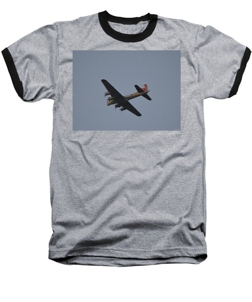 B-17 Flying Fortress Wwii Bomber Over Santa Rosa Sound At Twilight Baseball T-Shirt by Jeff at JSJ Photography